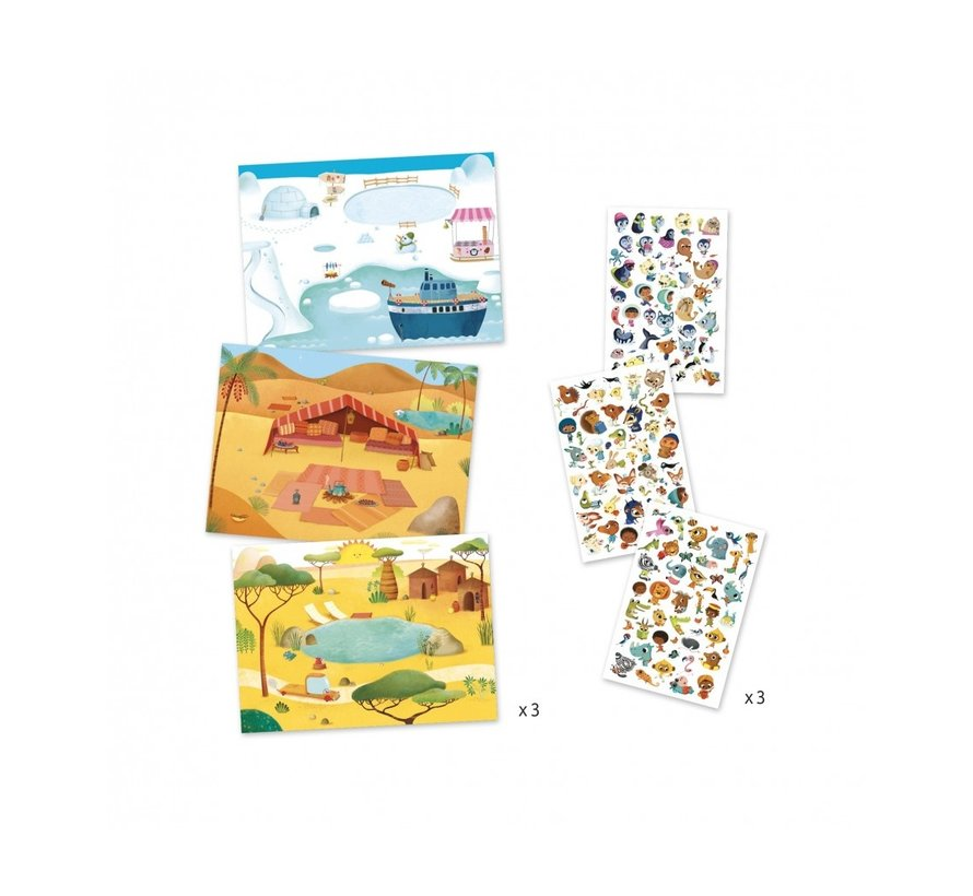 Krasplaatjes Savanne, Woestijn, Noordpool