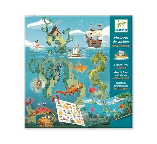 Djeco Sticker Stories Adventures at Sea
