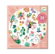 Djeco Stickers met Glitters Paradijs
