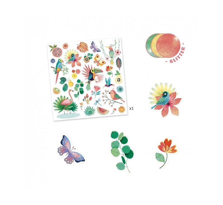 Stickers met Glitters Paradijs