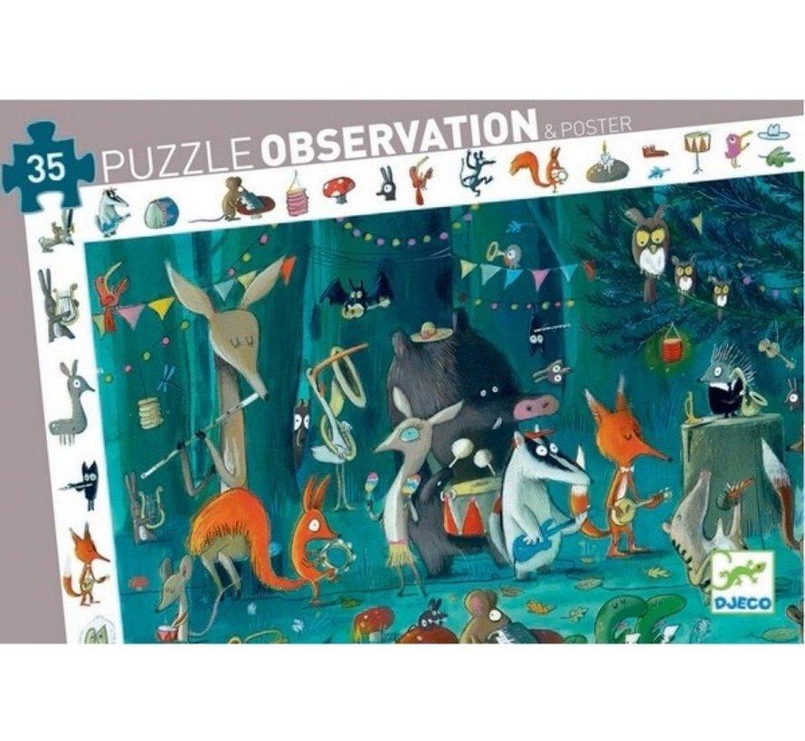 Puzzel Observatie het Dierenorkest 35 pcs