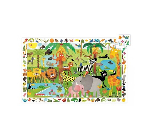 Djeco Puzzel Observatie van de Jungle 35 pcs