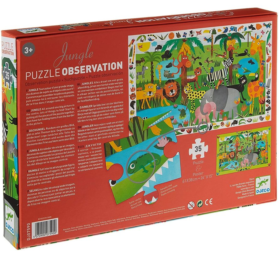 Puzzel Observatie van de Jungle 35 pcs