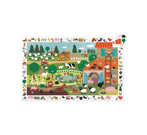 Djeco Puzzel Observatie de Boerderij 35 pcs