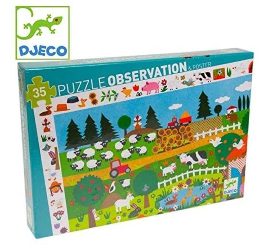 Puzzel Observatie de Boerderij 35 pcs