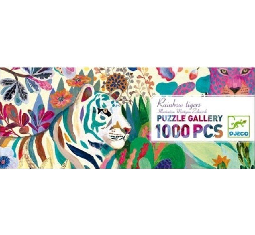 Puzzel Regenboog Tijgers 1000 pcs