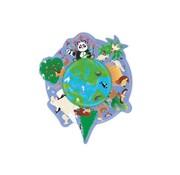 Scratch Contour Puzzel Wereld 45 pcs