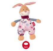 sigikid Musical Soft Toy Bunny Rosalie Rose