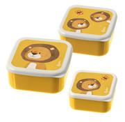 sigikid Lunchbox Snackbox Leeuw 3-delig