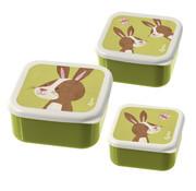 sigikid Lunchbox Snackbox Konijn 3-delig