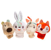 Lilliputiens Forest Finger Puppets 4-pcs