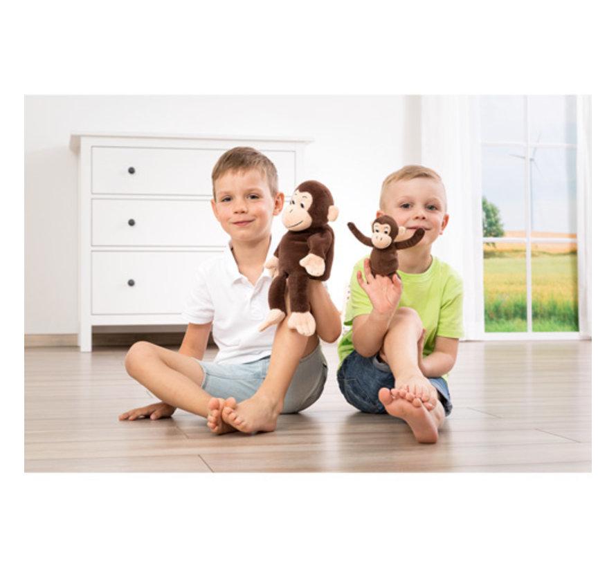 Handpop Aap met Baby Cheeta & Bibi