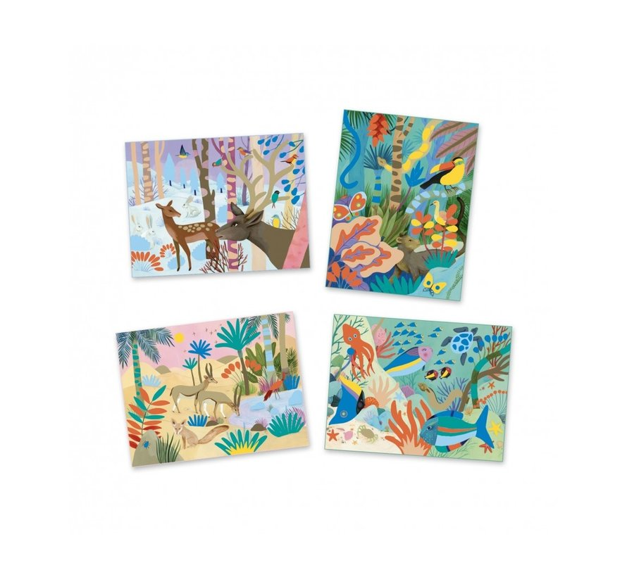 Gouaches Art by Numbers Natural World