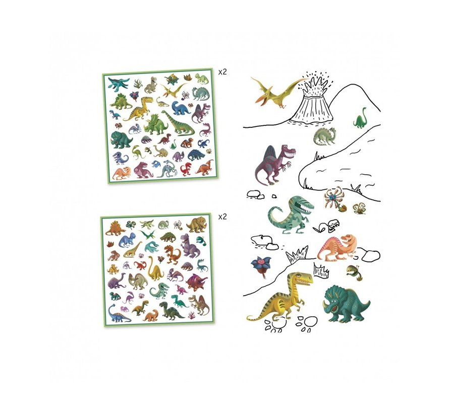 Stickers Dinosauriërs