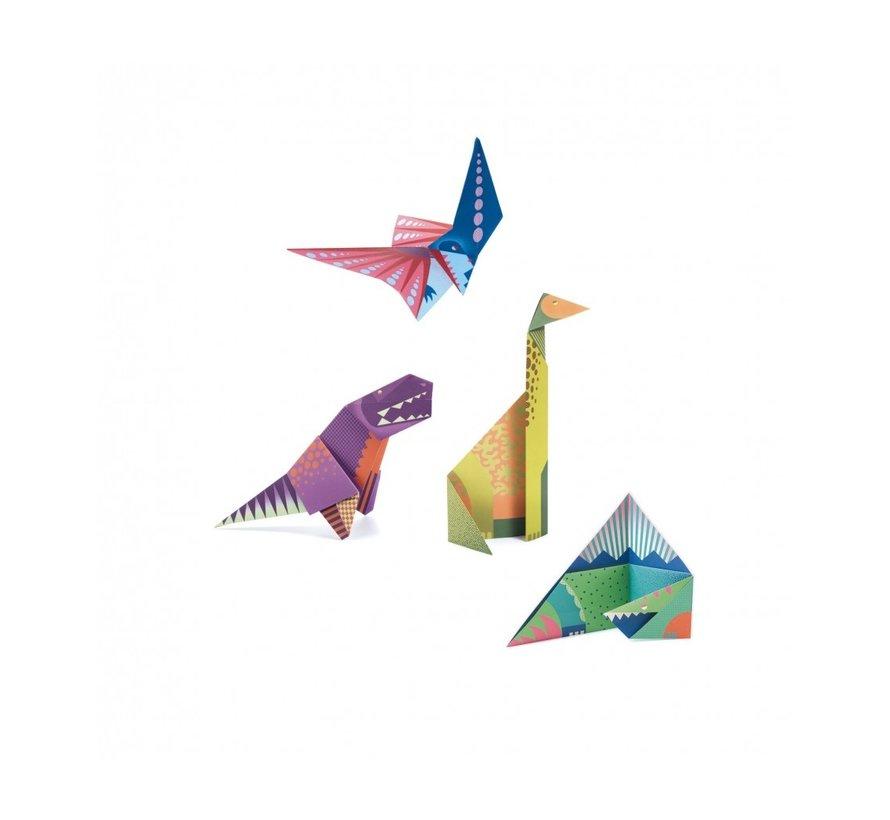 Easy Origami Dinosaurs