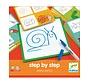 Tekenkaarten Step by Step Dieren