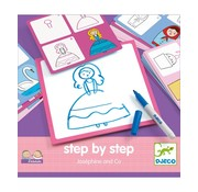 Djeco Tekenkaarten Step by Step Joséphine and Co