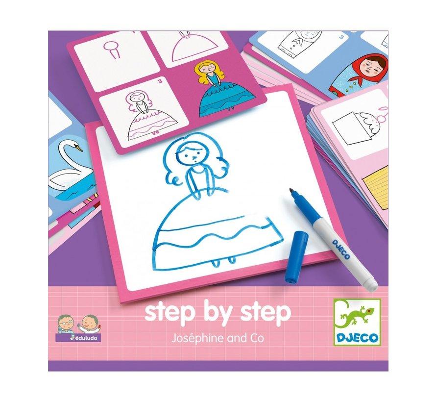 Tekenkaarten Step by Step Joséphine and Co
