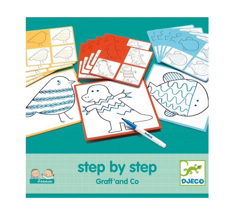 Tekenkaarten Step by Step Graff and Co