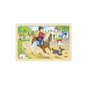 GOKI Puzzel Ponyboerderij Hout 24pcs