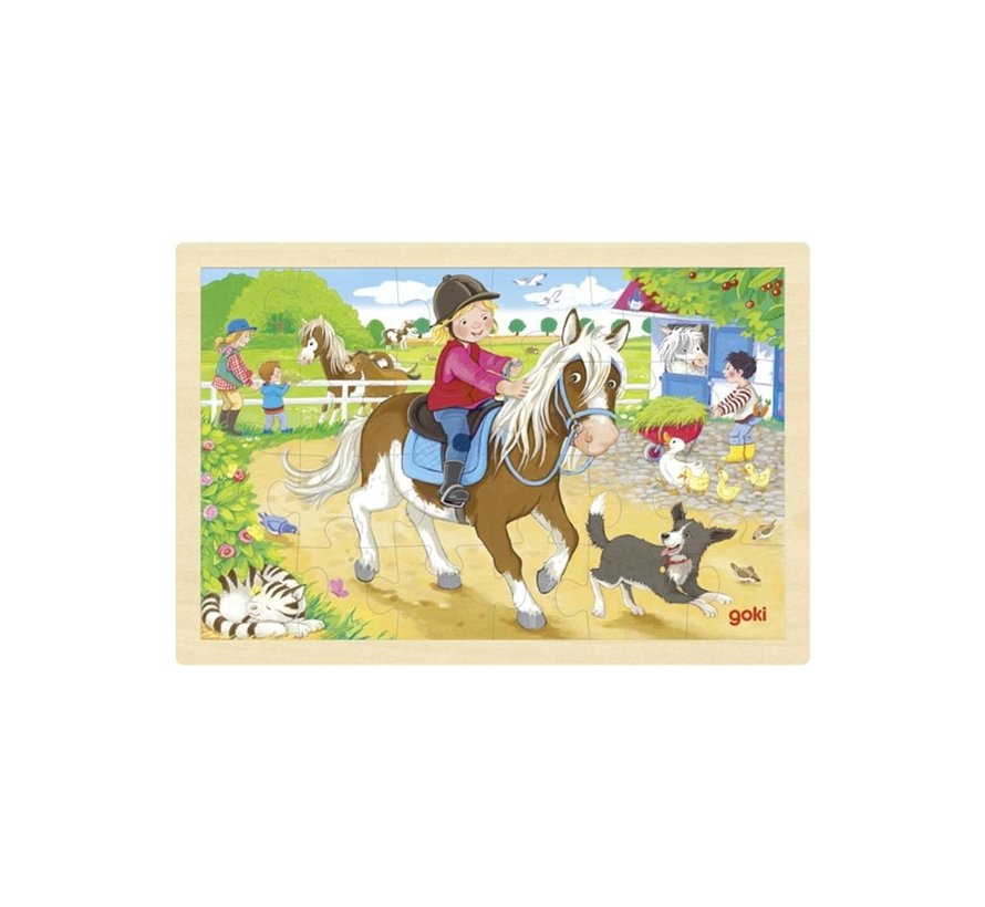 Puzzel Ponyboerderij Hout 24pcs