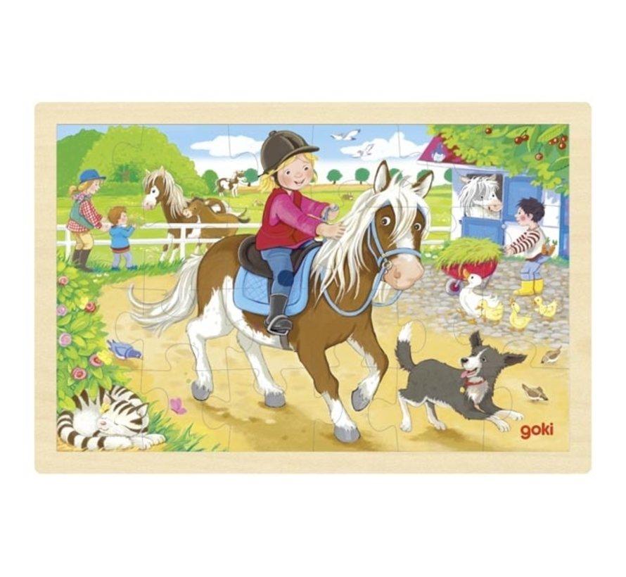 Puzzle Pony Farm 24pcs