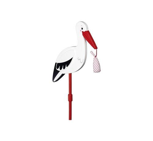 GOKI Flower decor stick Stork with baby cloth, XL