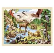 GOKI Puzzel Dieren Noord Amerika 96 pcs
