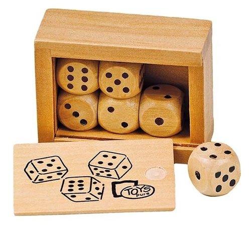GOKI Box with 6 wooden dice
