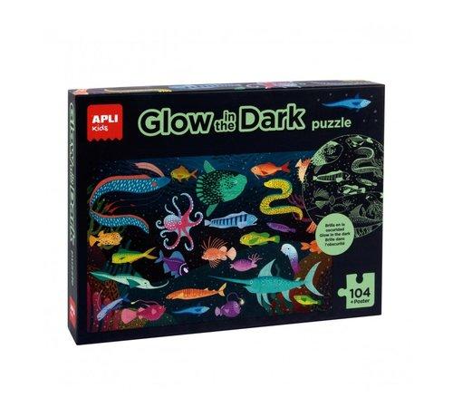 APLI Puzzel Glow in the Dark Oceaan 104 pcs