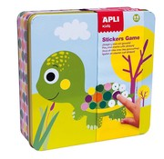 APLI Stickerspel in Blik Dieren