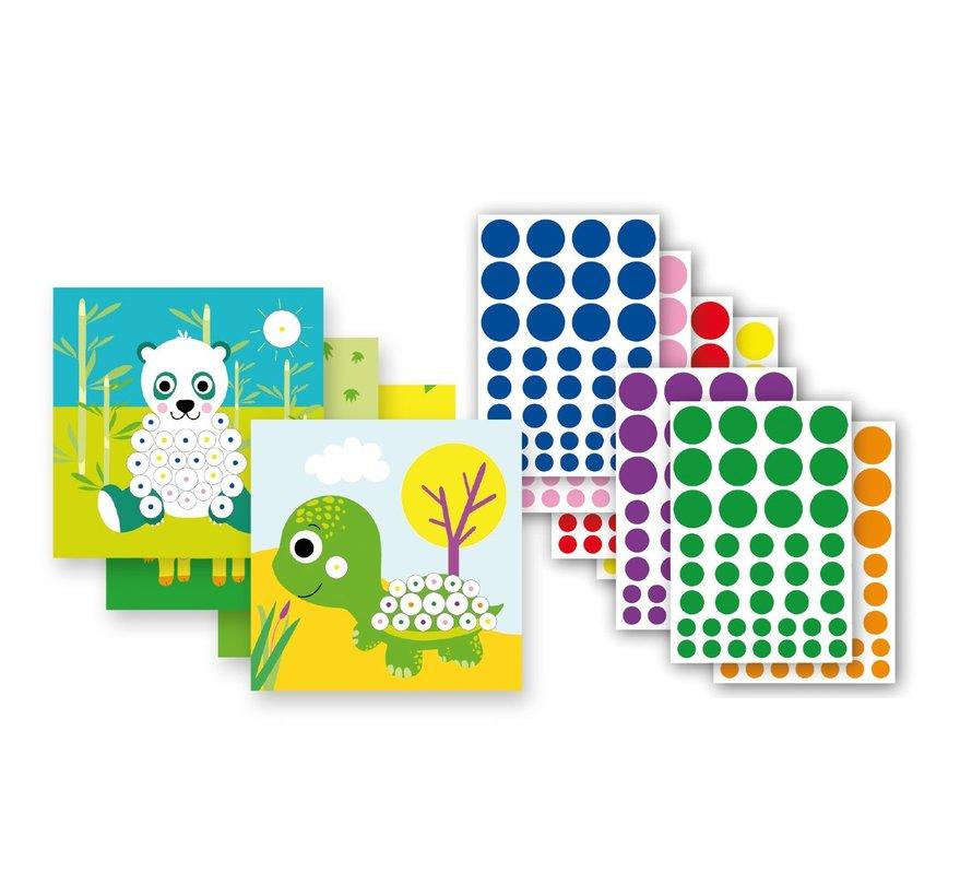 Stickerspel in Blik Dieren