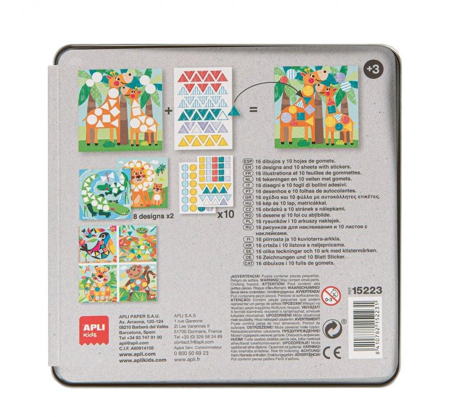 Stickerspel in Blik Jungle