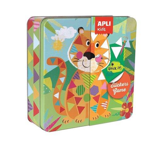 APLI Stickerspel in Blik Jungle