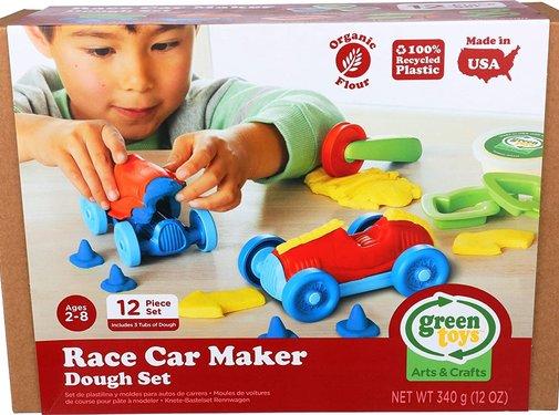 Green Toys Dough Set Race Car Maker