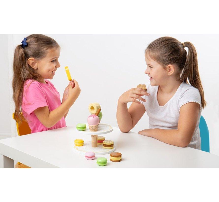 Etagere met Zoetigheid Sweet Treats Set