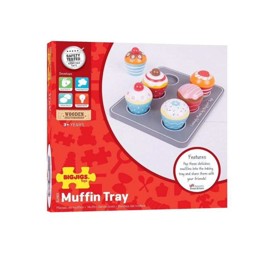 Houder met Houten Muffins