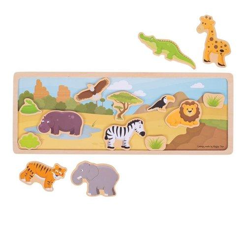 Bigjigs Magneetbord Safari Dieren