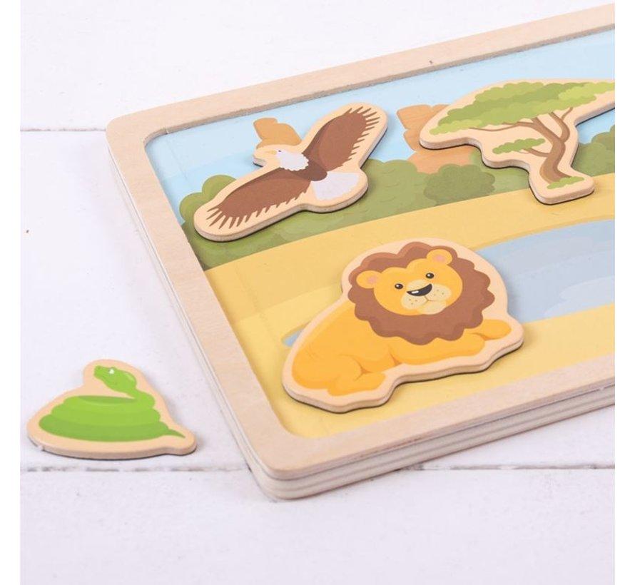 Magneetbord Safari Dieren