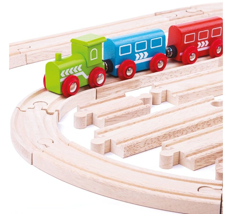 Trein Rails Uitbreidingsset 24-delig