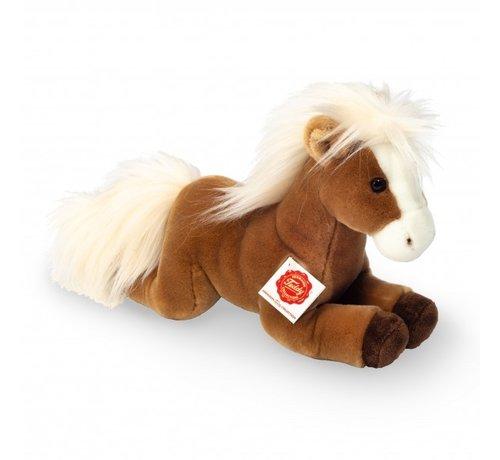 Hermann Teddy Knuffel Paard Liggend Lichtbruin 30cm
