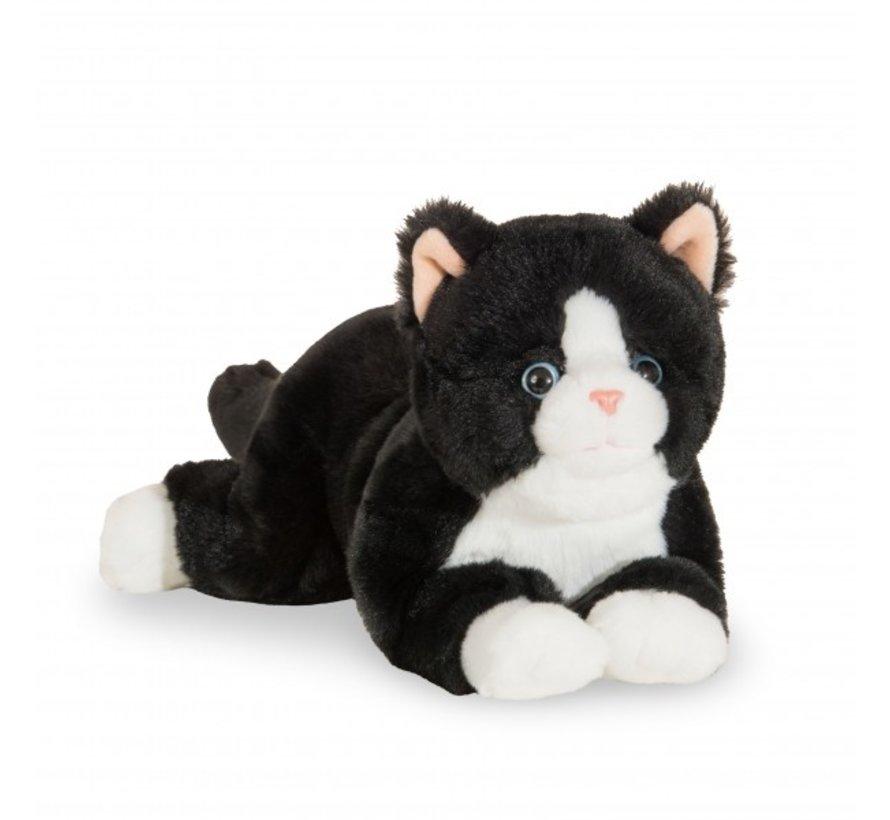 Knuffel Kat Zwart 30 cm