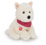 Hermann Teddy Knuffel Hond West Highland Terrier Zittend