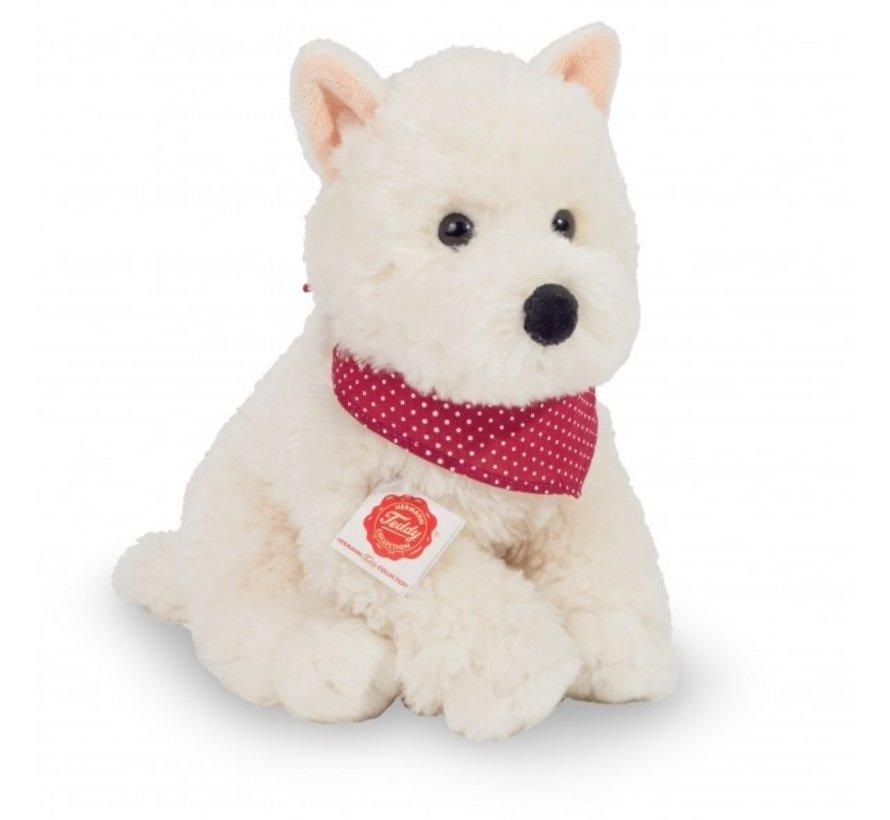 Knuffel Hond West Highland Terrier Zittend