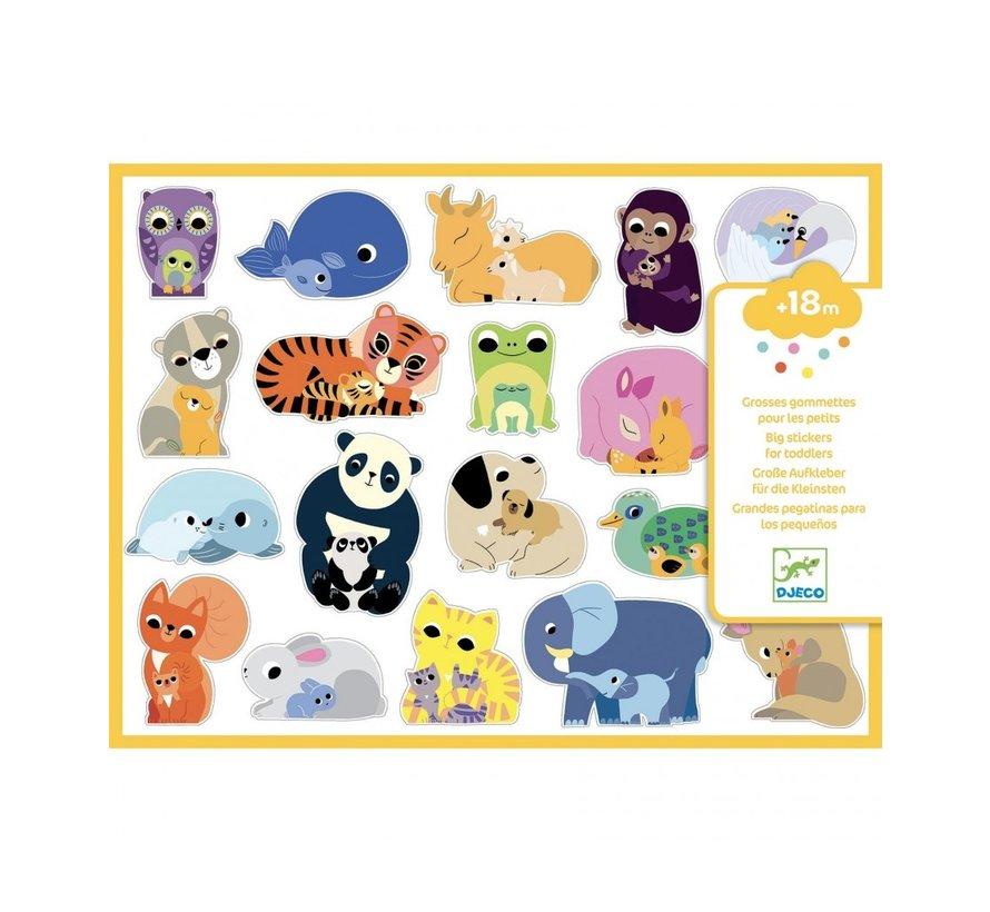 Stickers Baby Dieren Groot