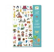 Djeco Stickers voor de Kleintjes 1000 stuks