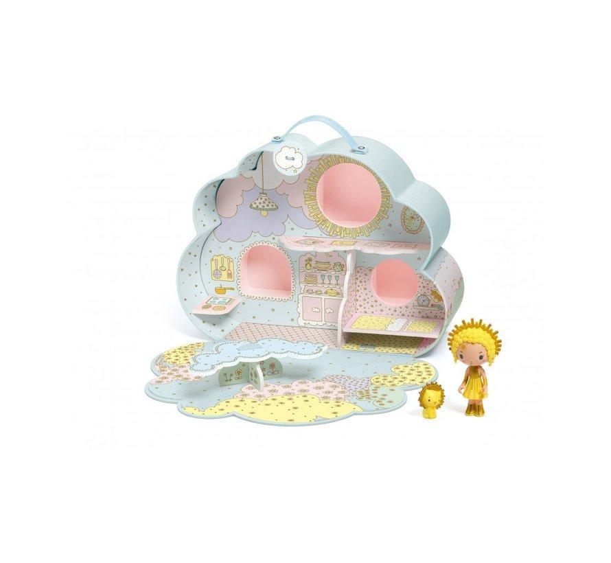 Draagbaar Poppenhuis Tinyly Sunny & Mia