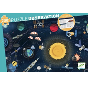 Djeco Observation Puzzle The Space and Booklet 200 pcs