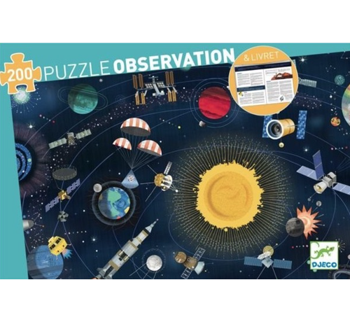 Djeco Puzzel Observatie Ruimte 200 pcs