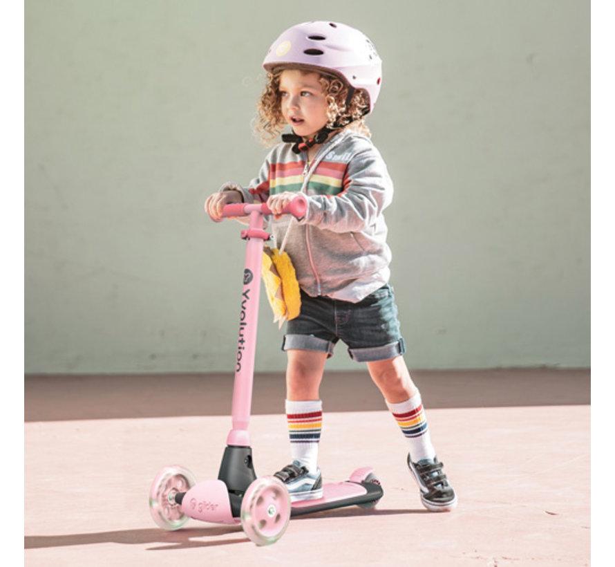 Kids Scooter Y Glider Kiwi Pink